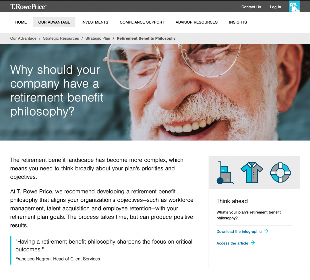 preview of digital article for t rowe price