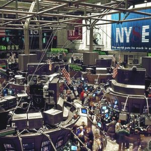 image of stock trading floor