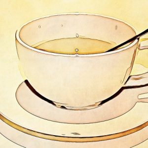drawing of coffee cup